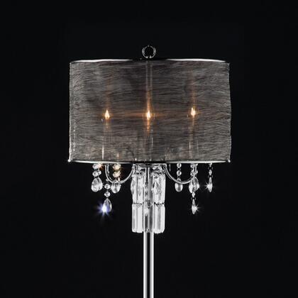 Gina L95127F Floor Lamp with Metal base  Sheer shade size: 17