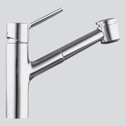 10.211.033.000 Single-hole  single-lever kitchen mixer with swivel spout and pull-out spray in