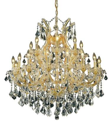 2800D36G/EC 2800 Maria Theresa Collection Hanging Fixture D36in H36in Lt: 24+1 Gold Finish (Elegant Cut