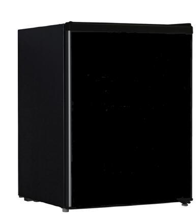 REF87L-24B 18 inch  Compact Refrigerator with 2.4 cu. ft. Capacity  Adjustable Leveling Leg  Reversible Door  Full-Range Temperature Control and Door Storage  in