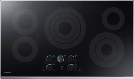 "NZ36K7570RS 36"" Electric Cooktop with 5 Elements  Rapid Boil  Magnetic Knob Tap Touch  Sync Elements and Wifi  in Stainless"