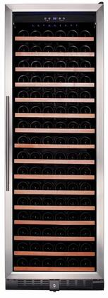 RW428SR 24 inch  Single Zone Wine Refrigerator with 166 Bottle Capacity  Wood Accented Shelves  Digital Thermostat and UV Protected Double Pane Glass Door with