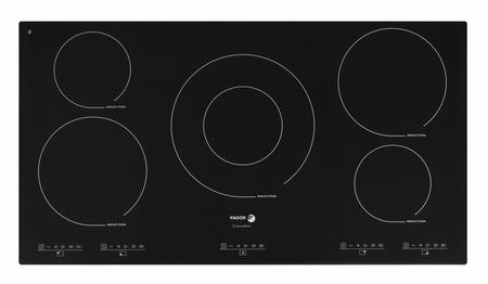"IFA-90BF 36"" Induction Cooktop 5 Cooking Zones 12 Cooking Settings Extremely Durable Ceramic Glass 7-Point Safety System Illuminated Touch Sensor Control:"