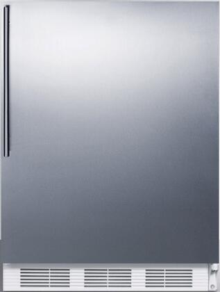 FF7BISSHV 24 inch  FF7BI Series Medical  Commercially Approved Freestanding or Built In Compact Refrigerator with 5.5 cu. ft. Capacity  Seamless Interior  Hidden