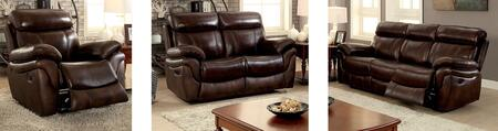 Kinsley Collection CM6983-SLR 3-Piece Living Room Set with Motion Sofa  Motion Loveseat and Recliner in