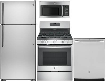 4-Piece Kitchen Appliance Package with GTS16GSHSS 28