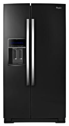 Whirlpool 19.9 Cu. Ft. Side-by-Side Counter-Depth Refrigerator Black Ice WRS970CIDE