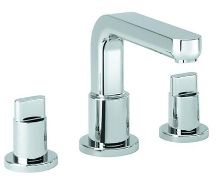 31436821  Double Handle Three Hole Roman Tub Filler Faucet with Metal Lever Handles from the Metris S Collection: Brushed