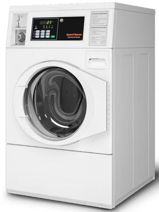 """SFNBYFSG112TW01 27"""""""" Front Load Commercial Washer with 3.42 cu. ft. Capacity  Quantum Control System  Prep for Card  in"""" 953812"""