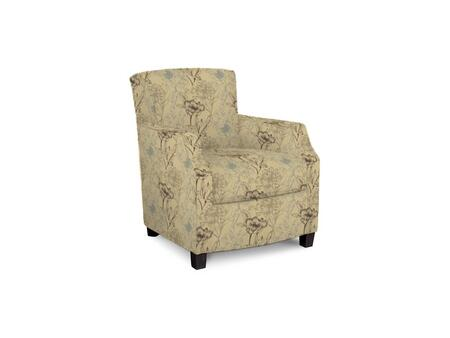 Comiskey Connection 1149-02/BE10-5 28 inch  Accent Chair with Fabric Upholstery  Tapered Wood Legs  Tight Back and Contemporary Style in Woven Floral