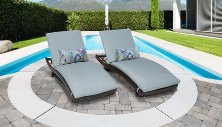 Barbados BARBADOS-CURVED-CHAISE-2x-SPA 2-Piece Curved Chaise Patio Set - Wheat and Spa