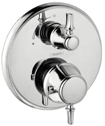4221820 Double Handle Thermostatic Valve Trim with Metal Lever Handles and Volume Control and Diverter: Brushed