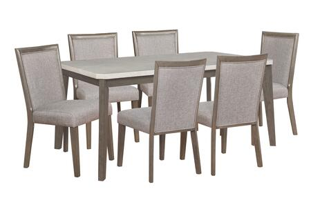 Primm Collection D1083D17PC7 7-Piece Dining Room Set with Table and 6 Side Chairs in Espresso
