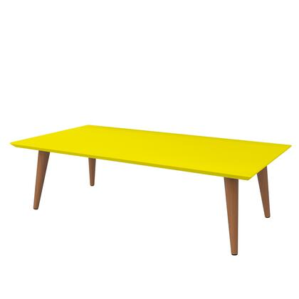 89453 Utopia 11.81 inch  High Rectangle Coffee Table with Splayed Legs in
