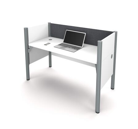 100871CG-17 Pro-Biz Simple workstation in White with Gray Tack