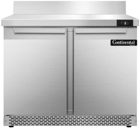 SWF36BSFB 36 inch  Worktop Freezer with 2 Solid Doors  6 inch  Backsplash  10.3 Cu. Ft. Capacity  Front Breathing Compressor  Aluminum Interior  Interior Hanging