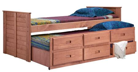 31375 Twin Captain Bed with Twin Trundle Unit in Mahogany