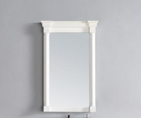 238-107-M27-CWH 27 inch  x 43 inch  Mirror with Wood Frame  Distressed Detailing and Molding Detail in Cottage