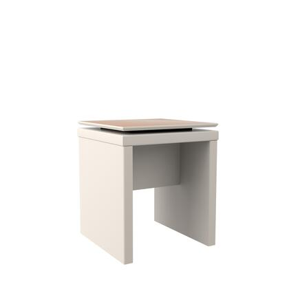 89551 Lincoln Square End Table in Off White and Maple
