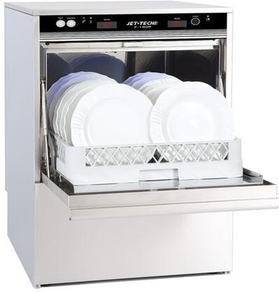 F-18DP High Temperature Undercounter Dishwasher with Built-In Booster  40 Racks Per Hour Capacity  Stainless Wash and Rinse Arms  in Stainless