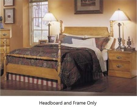 Carolina Oak 237240-982000-79091 63 inch  Full Sized Bed with Metal Frame and Poster Headboard in Golden