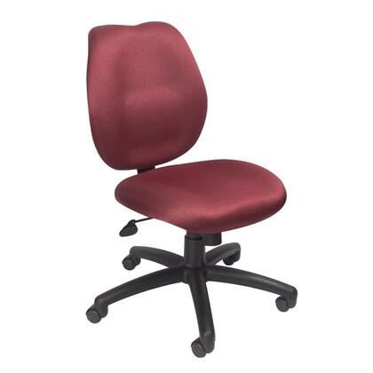 B1016-BY Task Chair with Mid-back Styling  Height Adjustment  Adjustable Tilt Tension  Upright Locking Position and Hooded Double Wheel Casters in