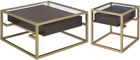 Yumia Collection 83340CE 2 PC Living Room Table Set with 32