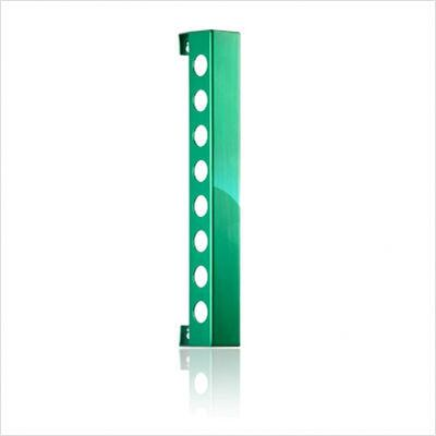 VB8PG Polished Green Vertical Wine Rack With Two Sizes  Modern and Innovative Designs  Vertically Mounted & In