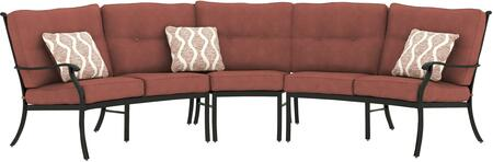 Magdalen Collection OD-564-SETLLSACRLS 3-Piece Outdoor Sofa with Left Arm Facing Loveseat  Armless Chair and Right Arm Facing Loveseat in Burnt 891280