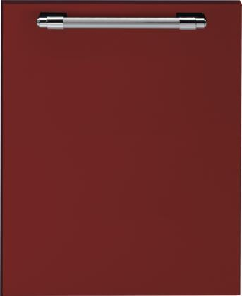 DWPRC 24 inch  Dishwasher Door Panel with Chrome Handle  in Red