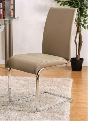 Walkerville I Collection CM3361SC-2PK Set of 2 Contemporary Style Side Chair with Padded Leatherette Upholstery and Chrome Legs in