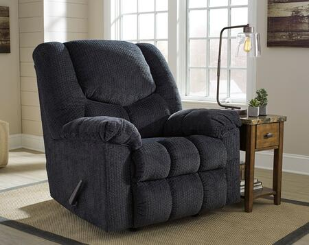 Signature Design By Ashley Turboprop Fsd-1459rec-sla-gg 40 Rocker Recliner With Plush Pillow Back  Rocker Feature  Lever Recliner  Metal Frame And Fabric