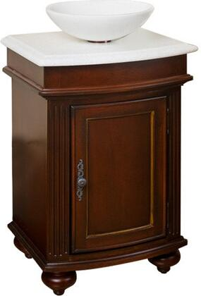 5300-2450-1005VesselSF Arlington 24 inch  Square Distressed Cherry Vanity With Snowflake Granite Top And Vessel