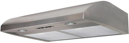 AB30SS 30 inch  Under Cabinet Range Hood with 250 CFM  Lighting  in Stainless