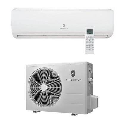 Friedrich M18YJ 17,000 BTU Single Zone Wall-Mount Ductless Split System with 20,200 BTU Heat Pump, 12.0 EER, 18.0 SEER, R410A Refrigerant and Energy Star Rated (MW18Y3J Indoor/MR18Y3J Outdoor) M18YJ