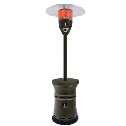 LHI-ALTO-48BTU-HB-NG Natural Gas 48000 BTU Patio Heater with Weighted Base  Stainless Steel Construction  Electronic Ignition  Tilt Switch Auto-Shutoff and 144