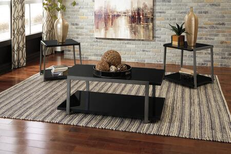 Rollynx Collection T326-13 3-Piece Occasional Table Set with Coffee Table and 2 End Tables in