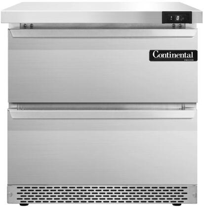 SWF32FBD 32 inch  Worktop Freezer with 2 Drawers  7.4 Cu. Ft. Capacity  Front Breathing Compressor  Aluminum Interior  Interior Hanging Thermometer  and