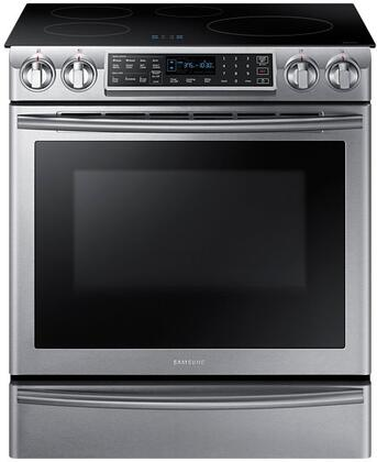 Samsung NE58K9560WS 30 Slide-in Electric Range with Smoothtop Cooktop, 5.8 cu. ft. Primary Oven Capacity, in Stainless Steel