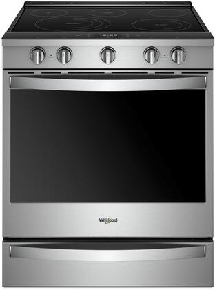 Whirlpool WEE750H0HZ 30 Inch Smart Slide-in Electric Range with 5 Elements, Smoothtop