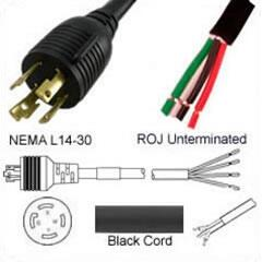 PFL143010J96 AC Power Cord Licking L14-30 Plug to ROJ 8 Feet 30a/250v 10/4