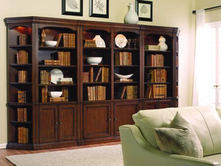 Cherry Creek 258-70-448/450/446 Five-Piece Wall Bookcase Set with 52