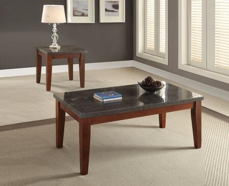Faymoor 81750CE 2 PC Living Room Table Set with Coffee Table + End Table in Walnut