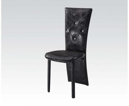 71387 Set of 6 Nancy Side Chairs with PU Leather Upholstery in