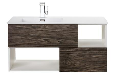 Sangallo Collection FVTETE42 42 inch  Wall Mount Vanity with 2 Drawers  2 Open Shelves and Matt Top in Tete a Tete