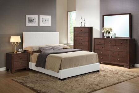 Ireland III Collection 14387EKDMCN Eastern King Size Platform Bed + Dresser + Mirror + Chest +