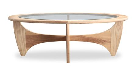 GPLAN-CT-ASH Mid-Century Modern G-Plan Plywood Coffee Table  Natural Ash