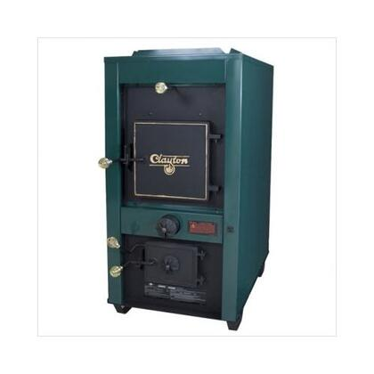 """1802G CLAYTON 35"""" Log Length  180 lbs Coal Capacity Wood or Coal Fuel Warm Air Furnace with Secondary Heat Exchanger with Firebrick Baffle  Cast Iron Door  and"""