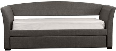 Montgomery Collection 1560DBTG Twin Size Daybed with Trundle Included  Fabric Upholstery  Gently Arched Back  Flared Arms and Sturdy Hardwood Frame in Medium