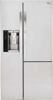 LG LSXC22486S 22 cu. ft. Capacity Side-by-Side Counter-Depth Refrigerator with Door-in-Door